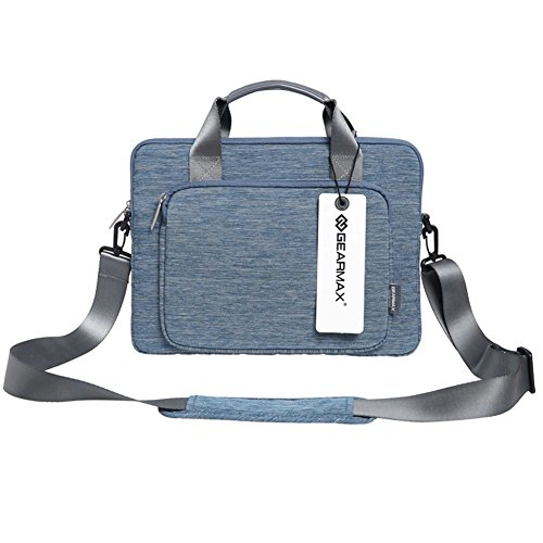 BRINCH(TM) 11 - 11.6 Inch Suit Fabric Multi-functional Neoprene Messenger Case Tote Bag with Handle and Carrying shoulder Strap For 11-11.6 Inch Netbook / Laptop / Notebook Computer / MacBook Air(11.6 inches,Blue)