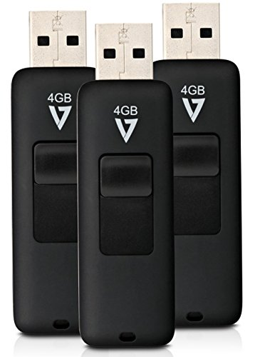 Device Line Stick Sharing The (V7 VF24GAR3PK3N 3 Pack Combo 4GB Flash Drive USB 2.0 with Retractable Connector)