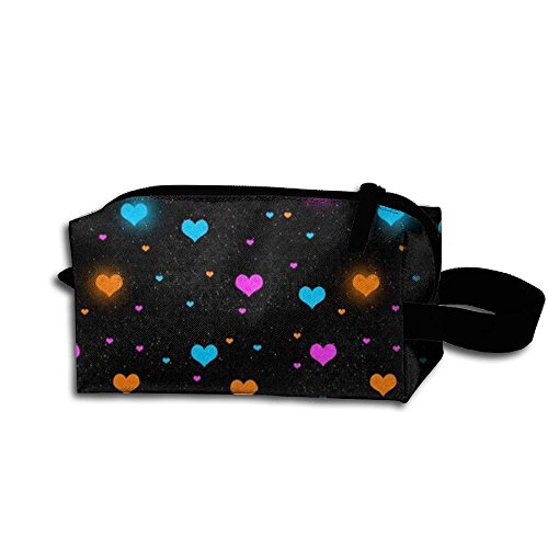 Valentine's Day Love Makeup Bag Cosmetic Bag Accessory Case Multiple For Couple by Zhaoqian