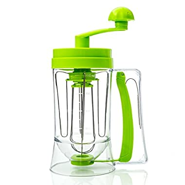 Cake Batter Dispenser and Mixing System for the Perfect Waffles, Pancakes, Cupcakes, Muffins and Baked Goods by Cooking Upgrades
