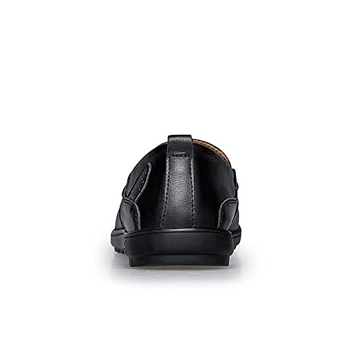 Soft Ofgcfbvxd Mocassini Dimensione Light Fitting amp; Scarpe per Loafer Wave Sole Wider driving 38 uomo casual Color Leggero Slip Super Nero Nero On EU rqrwtp8