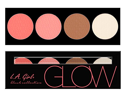 L.A. Girl Beauty Brick Blush Collection, Glow, 0.77 Ounce