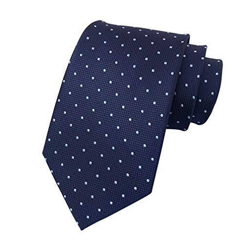 - MENDENG Men's Navy Blue Polka Dot Silk Tie Wedding Necktie Elegant Suit Ties