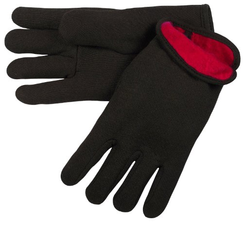 MCR Safety 7900 Jersey Cotton Men's Gloves with Slip-On Gunn Style, Brown/Red, Large, -