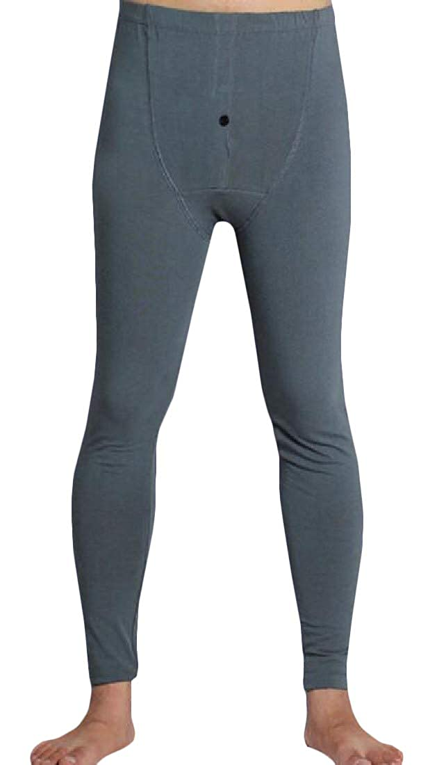 GloryA Mens Underwear Thermal Bottom Stretchy Base Layering Long Johns
