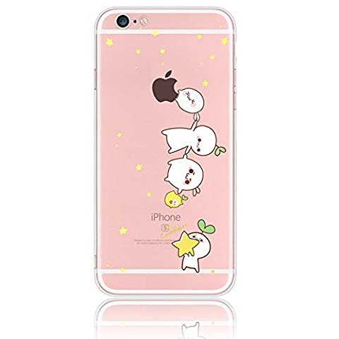 iphone 7 Case,Sunroyal Dustproof Cartoon Crystal Transparent Pattern TPU Protective Bumper for Apple iPhone 7 4.7