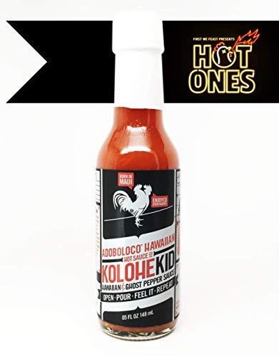 Adoboloco KoloheKid Hawaiian & Ghost Pepper Hot Sauce - 5 Ounce Bottle (Hot) - Featured on Hot Ones Season 8