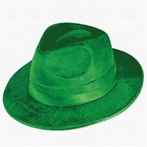 hersrfv home St Patricks Day Green Velvet/Felt Fedora