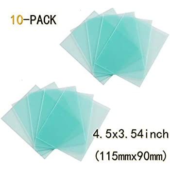 """6pcs Clear Welding Cover Lens 4.5/"""" x 3.5/"""" for Welding Helmet Replacement"""