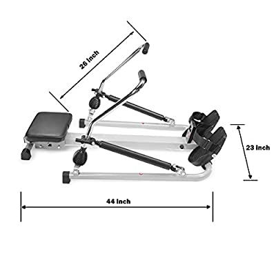 XtremepowerUS Orbital Rowing Machine W/ Free Motion Arms, Indoor Workout Gym by XtremepowerUS