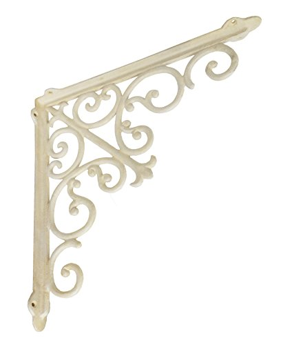 NACH js-90-063AW, Victorian Shelf Bracket, Large, White, ...