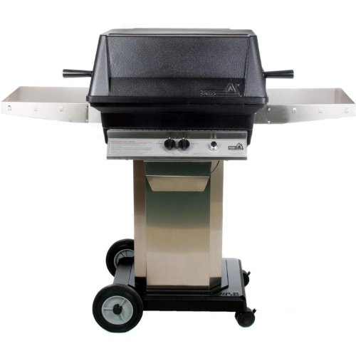 Pgs A40 Cast Aluminum Propane Gas Grill On Stainless Steel Portable Pedestal Base PGS