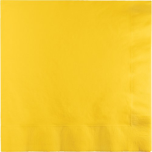 500-Count Touch of Color 3-Ply Paper Lunch Napkins, School Bus Yellow