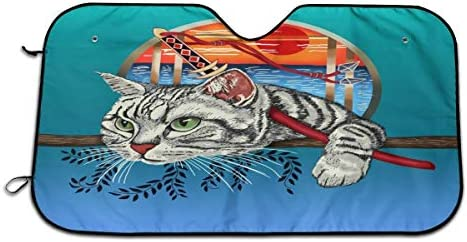 Faithlife Ninja Cat Cool Graphic Parasol Aislante de Calor ...
