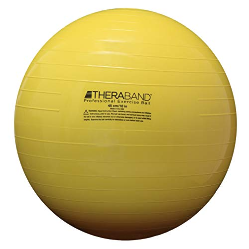 (TheraBand Exercise Ball, Stability Ball with 45 cm Diameter for Athletes 4'7