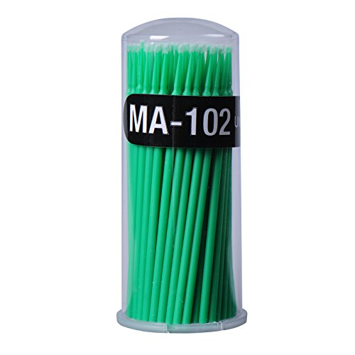GZQ Cotton Swab Applicators Tube for Eyelash Extension Glue Removal Lashes Graft Tools 100PCS (Green) (Genealogy Images History)