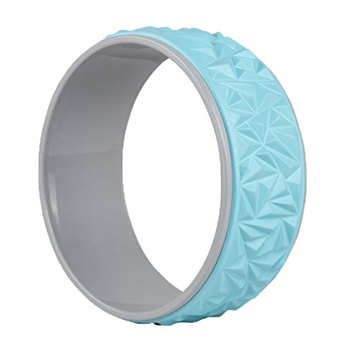 A-Flower Yoga Wheel Perfect Exercise Rollers 13 x 5 Inch for Stretching Increasing Flexibility and Improving Backbends
