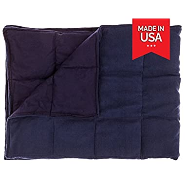 "Premium Weighted Blanket for Adults by InYard | 15 lbs | 41""x72"" (for a 90-150 lb individual) 