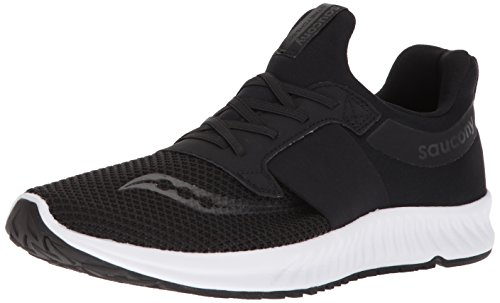 Saucony Men's Stretch N Go Breeze Running Shoe, Black, 9 Medium US