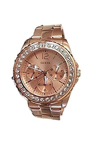 GUESS Factory Women's Rose Gold-Tone Multifunction Watch