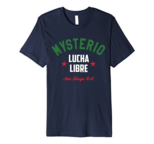Mens Rey Mysterio Official Lucha Libre Vintage Style T-shirt Large Navy (Jersey Reyes Lightweight)