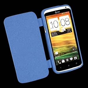 Quicksand TPU Soft Flip Ultrathin Matte Case For HTC ONE X --- Color:Black
