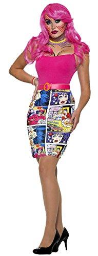 Comic Printed Jupe Pop Art Skirt 24-30' Waist 28-32