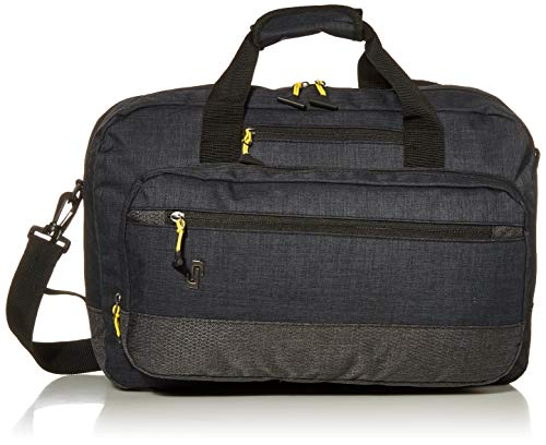 Solo Velocity 15.6 Inch Laptop Hybrid Backpack Briefcase, Navy/Grey (Best Way To Ship A Backpack)