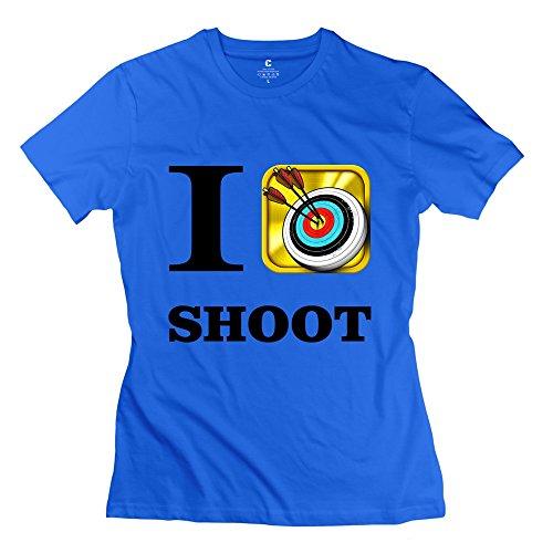 Fashion Archery Tournaments I Love Shoot Women's T-shirt RoyalBlue Size XL