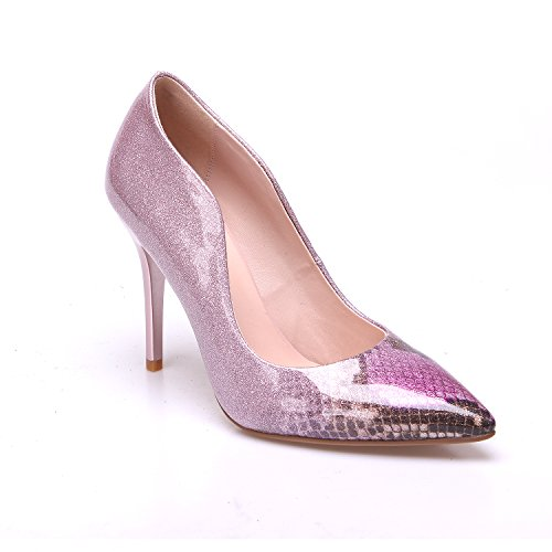 Snake Rose Toe Heels Stiletto Pointues Chaussures Pump Femmes Zaproma Closed fxnwzvW1gq