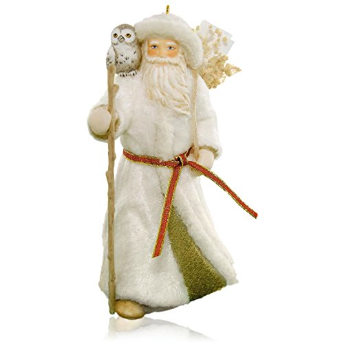 Father Christmas and Owl Ornament 2015 Hallmark