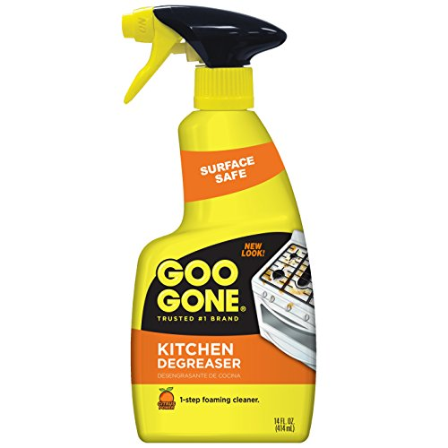 Goo Gone Kitchen Degreaser - Removes Kitchen Grease, Grime and Baked-on Food - 14 Fl. Oz. - -