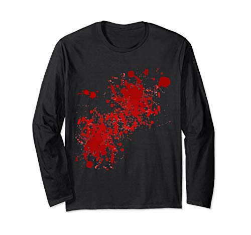 Fake Blood Splatter Long Sleeve T-Shirt -
