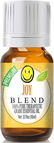 Joy Blend - 100% Pure, Best Therapeutic Grade Essential Oil - 10ml (Bergamot, Geranium, Jasmine, Lemon, Mandarin, Palmarosa, Roman Chamomile, Rose, Rosewood, Sweet Orange and Ylang Ylang)