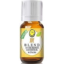 Joy Blend - 100% Pure, Best Therapeutic Grade Essential Oil - 10ml (Bergamot, Geranium, Jasmine, Lemon, Mandarin, Palmarosa, Roman Chamomile, Rose, Rosewood, Sweet Orange and Ylang Ylang - Comparable to Young Living's Joy)