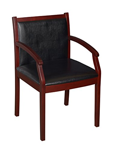 Regency Regent Vinyl Guest Chair, Mahogany