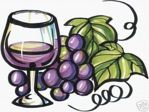 Wine Glass Grape Beverages Bar Sign Decal 8
