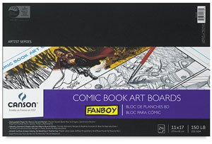 Comic Book Fanboy Canson (Canson Fanboy Comic book art boards 11 in. x 17 in. pad of 24)