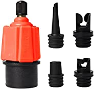 Inflatable 0630zqq-APC SUP Pump Adaptor Compressor Air Valve Converter, Multifunction Sup Valve Adapter with 4