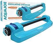 Aqua Joe SJI-OMS20 Indestructible Jumbo Metal Base Oscillating Sprinkler, 4,400 Square-Foot Coverage, Complete