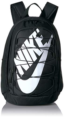 Nike Hayward 2.0 Backpack, Backpack for Women and Men with Polyester Shell & Adjustable Straps, Black/Black/White