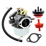 AUTOKAY 632334A 632234 Snowblower Carburetor for Tecumseh HM70 HM80 HMSK80 HMSK90 Engines Carb with Gasket Oil Filter Prime Bulbs