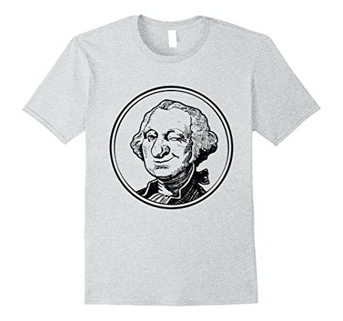Mens Winking George Washington Shirt President Coin T-Shi...