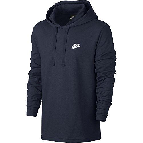 Men's Nike Sportswear Hoodie Obsidian/White Size Medium