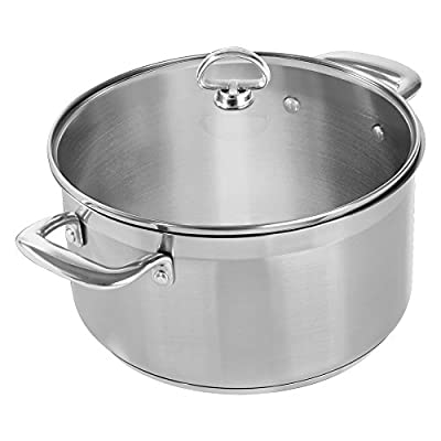 Chantal Induction 21 Steel Casserole with Glass Lid