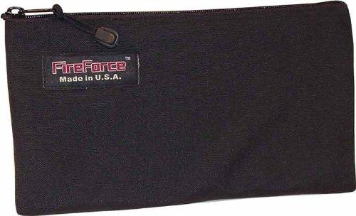 Fire Force 12-1/2-Inch Cordura Ballistic Nylon Zipper Bag Made in USA (Black) Ballistic Nylon Zipper