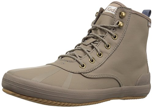 Keds Women's Scout Boot Splash Twill WX Sneaker, Taupe, 8.5 M US ()