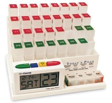 MEDCENTER (70265 31 Day Pill Organizer with Reminder System