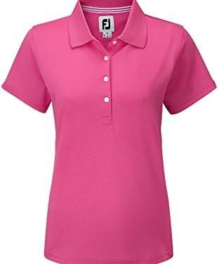 Footjoy Stretch Pique - Polo piqué para Mujer, Color Rosa Fuerte ...