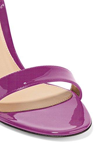 Korkokenkiä Korot Naisten Eldof Sandaalit Toimisto Violetti Koristeluun Teräväkärkiset Kengät Bowtie 10cm Slingback Z65q5